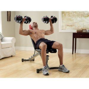 Bowflex SelectTech 1090 with chair exercise