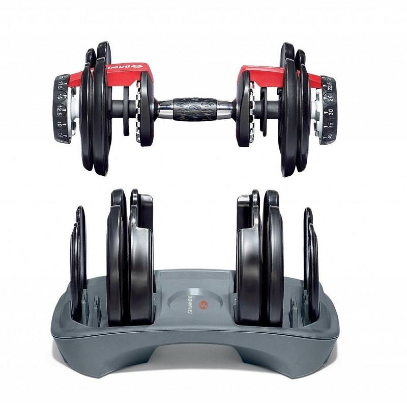Bowflex SelectTech 1090 dumbbells selection