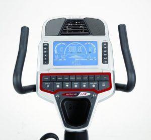 recumbent bike's control panel