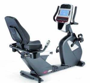 recumbent bike and console
